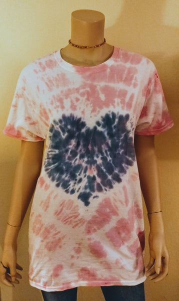 Navy blue heart tee
