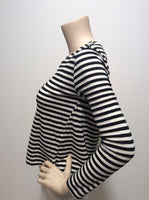 AMO striped twisted seam top