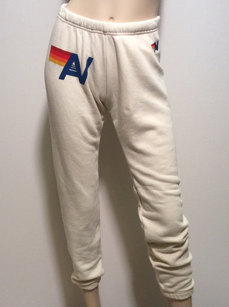 Aviator Nation Classic sweatpants in Vintage white