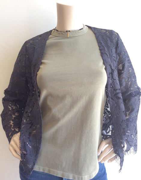 Chaser  charcoal grey Lace bell sleeve jacket