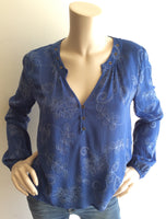 Vivian Blouse in blue by sage the label