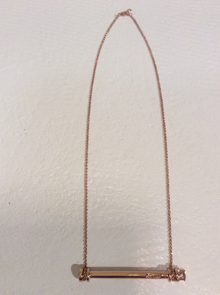 Miansai 1/2 screw cuff necklace in Rose gold