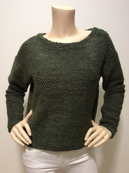 Bobi boatneck green sweater