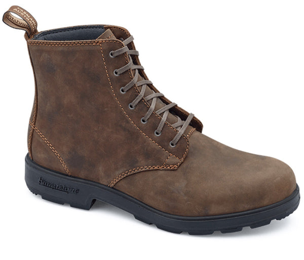 Blundstone men's Lace Up boot in rustic brown