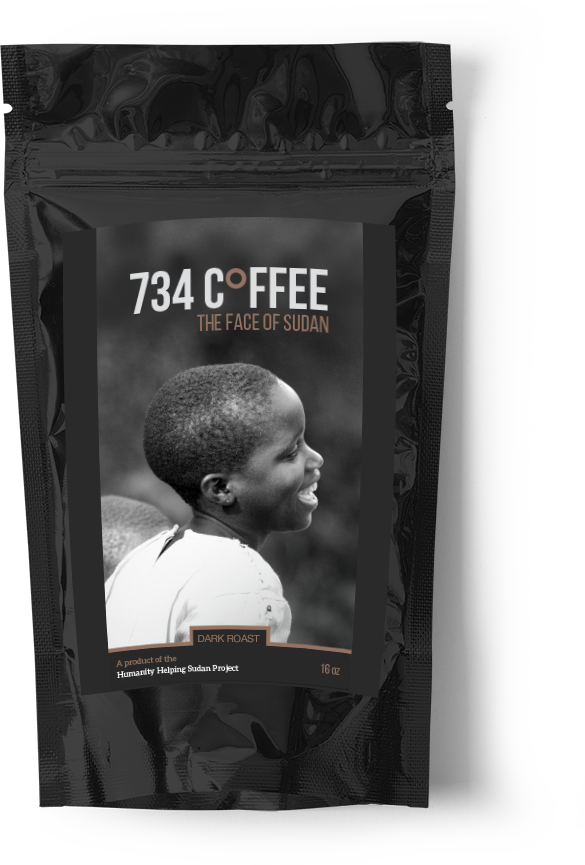 Large 734 Coffee - Dark Roast
