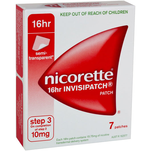Nicorette 16 Hour Step 3 10mg 7 Patches