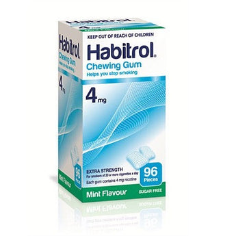 Habitrol 4mg Mint Gum 96 Pieces -  EXP 02/2020