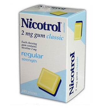 Nicotrol Chewing Gum 2mg Classic 105 Pieces - EXP 12/2021