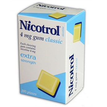 Nicotrol Chewing Gum 4mg Classic 105 Pieces - EXP 04/2022