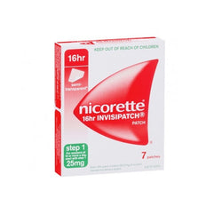 Nicorette 16 Hour Step 1 25mg 7 Patches - EXP 06/2020