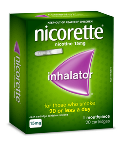 Nicorette Inhalator 15mg 20 Cartridges - EXP 04/2022