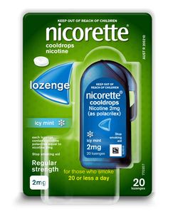 Nicorette Cool Drops 4mg 20 Lozenges