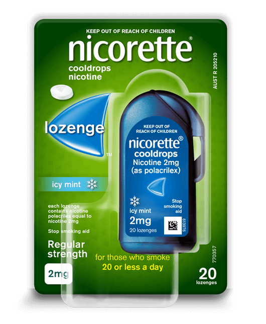 Nicorette Cool Drops 4mg 20 Lozenges - EXP 10/2021