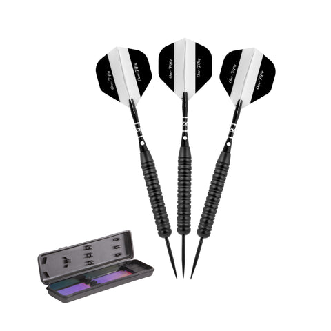 Elkadart Black 150 Jet Black Steel Tip Darts 24 Grams