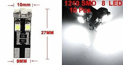 CAR SIDE LIGHT BULBS CANBUS ERROR FREE T10 501W5W 8 SMD LED XENON WHITE