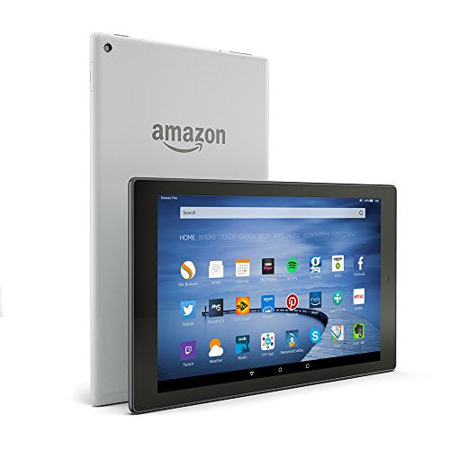 Fire HD 10 Tablet, 10.1'' HD Display, Wi-Fi, 16 GB (Silver Aluminium) - Includes Special Offers