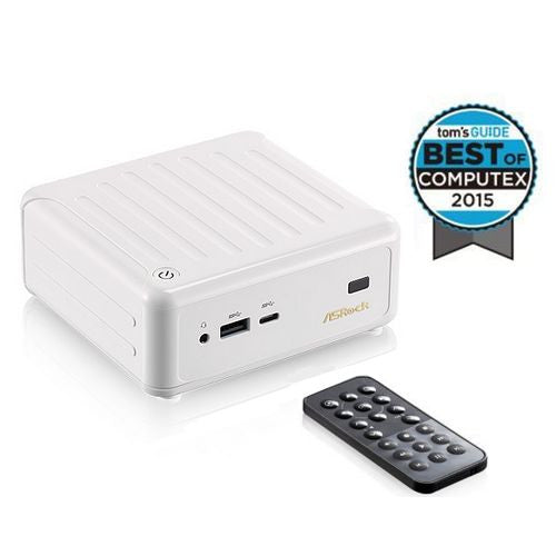 Asrock N3000-NUC White BeeBox Barebone PC, Intel N3000, AC Wireless, Btooth, USB3 Type-C, Remote, No RAM, HDD or O/S