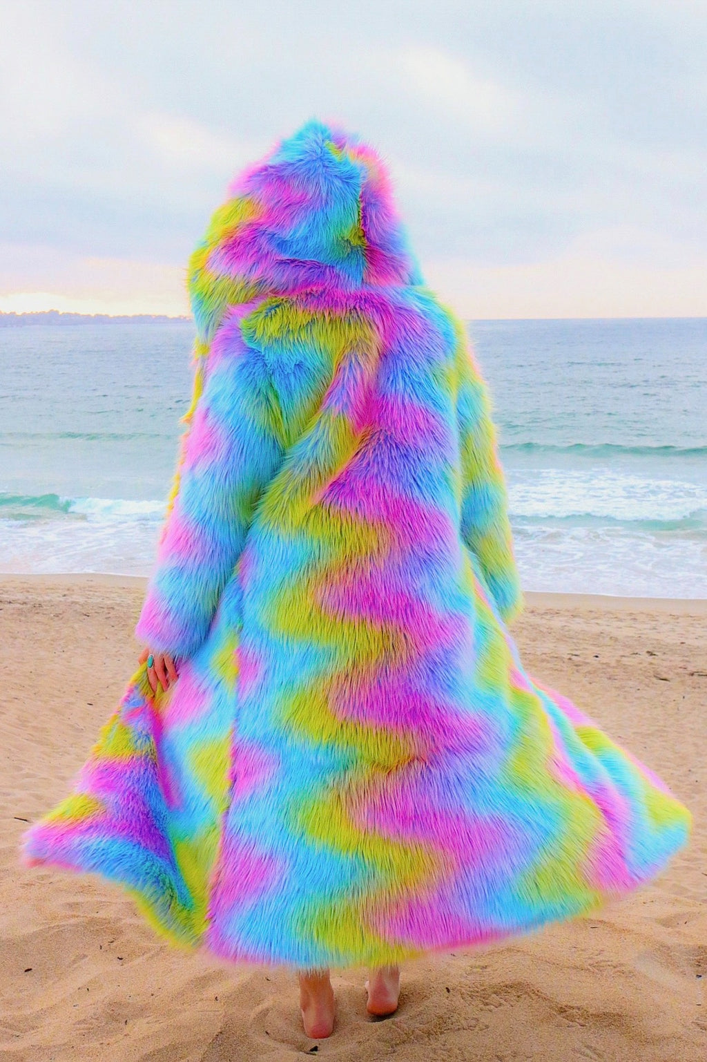Pryzmatic Fur Coat