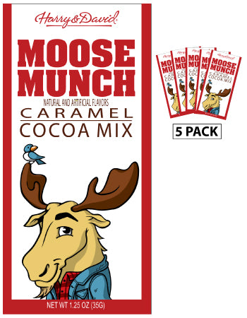 Packets All Year Cocoa - Harry & David® Moose Munch® Caramel - 1.25 oz packets (5)