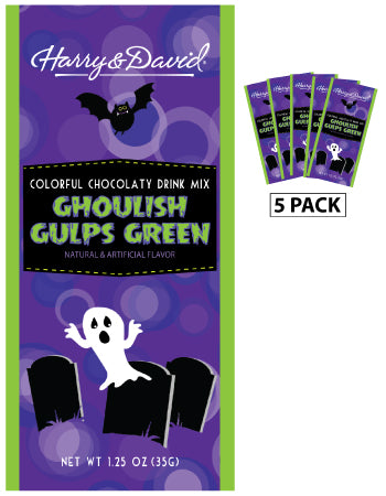 Packets Halloween Fall Colorful Hot Chocolate - Harry & David® Ghoulish Green - 1.25 oz packets (5)