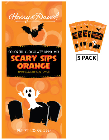 Packets Halloween Fall Colorful Hot Chocolate - Harry & David® Scary Sips Orange - 1.25 oz packets (5)