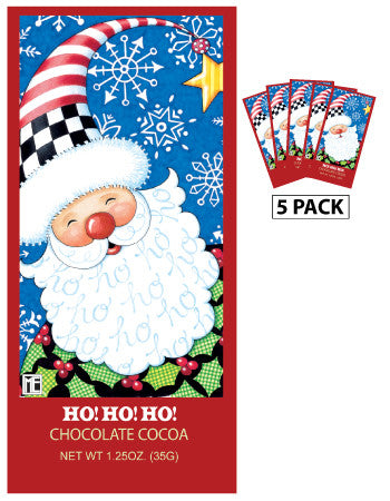 Mary Engelbreit® Holiday Santa Ho! Ho! Ho! Chocolate Cocoa (Five 1.25oz Packets)
