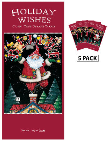 Mary Engelbreit® Santa Holiday Wishes Candy Cane Cocoa (Five 1.25oz Packets)