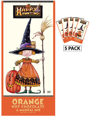 Mary Engelbreit© Halloween Happy Haunting Colorful Orange Hot Chocolate (Five 1.25oz Packets)