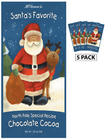 Packets Christmas Cocoa - McSteven's© Santa's Favorite Chocolate - 1.25 oz packets (5)