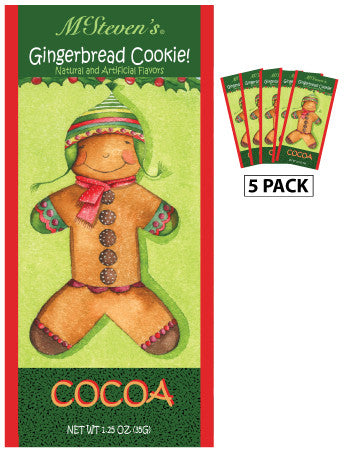 Packets Christmas Cocoa - McSteven's© Gingerbread Cookie - 1.25 oz packets (5)