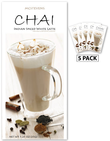 McSteven's Indian Spiced Chai Tea Latte (Five 1.25oz Packets)