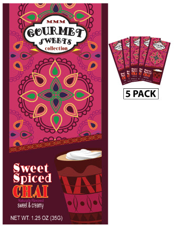 McSteven's Gourmet Sweets Sweet Spiced Chai (Five 1.25oz Packets) (CLOSEOUT - BEST BY JUNE 2022)