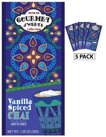 Packets All Year Chai - McSteven's Gourmet Sweets Naturally Flavored Vanilla Spiced - 1.25 oz packets (5)
