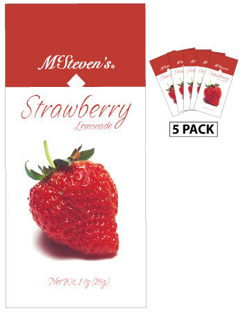 McSteven's Big Fruit Classic Strawberry Lemonade (Five 1oz Packets)