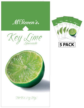 McSteven's Big Fruit Classic Key Lime Lemonade (Five 1oz Packets)