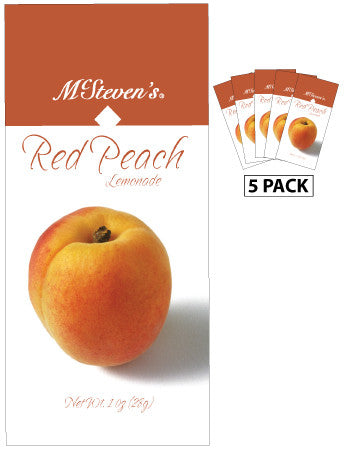 McSteven's Big Fruit Classic Red Peach Lemonade (Five 1oz Packets)