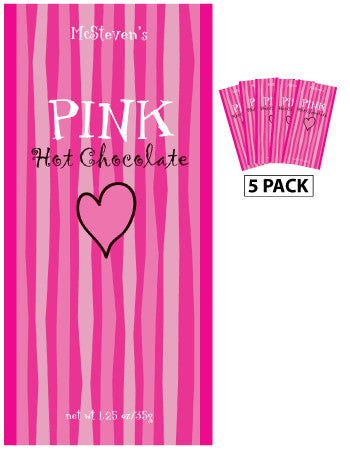 Packets All Year Colorful Hot Chocolate - McSteven's Pink Hot Chocoate - 1.25 oz packets (5)