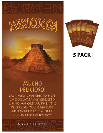 McSteven's Mexicocoa Spiced Hot Chocolate (Five 1.25oz Packets)