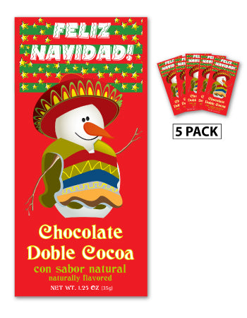 McSteven's Feliz Navidad Snowman Chocolate Cocoa (Five 1.25oz Packets)