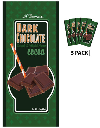 McSteven's Ultra Dark Chocolate Cocoa (Five 1.25oz Packets)