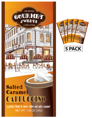 Packets All Year Cappuccino - McSteven's Gourmet Sweets Naturally Flavored Salted Caramel - 1.25 oz packets (5)
