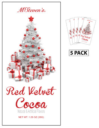 Packets Christmas Cocoa - McStevens© Christmas Red Velvet - 1.25 oz packets (5)