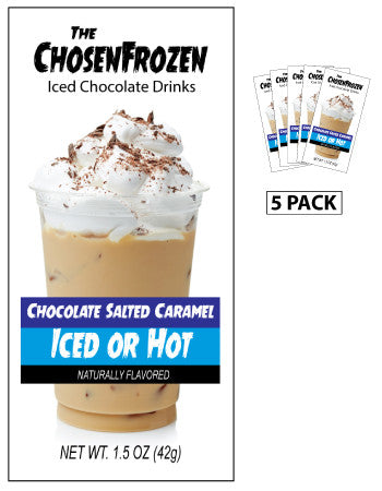 The Chosen Frozen Iced Salted Caramel Drink (Five 1.5oz Packets)