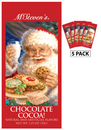 Packets Christmas Cocoa - Dona Gelsinger® Santa Chocolate - 1.25 oz packets (5)