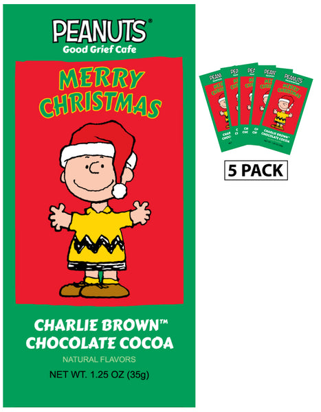 Packets All Year Cocoa - Peanuts© Charlie Brown Chocolate Cocoa - 1.25 oz packets (5)