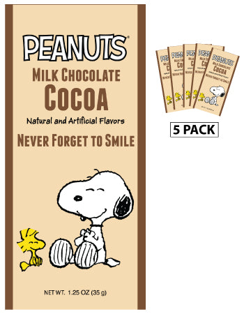 Peanuts® Never Forget to Smile Milk Chocolate Cocoa (Five 1.25 oz Packets)