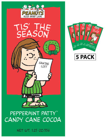 Packets Christmas Cocoa - Peanuts© Peppermint Patty Candy Cane - 1.25 oz packets (5)
