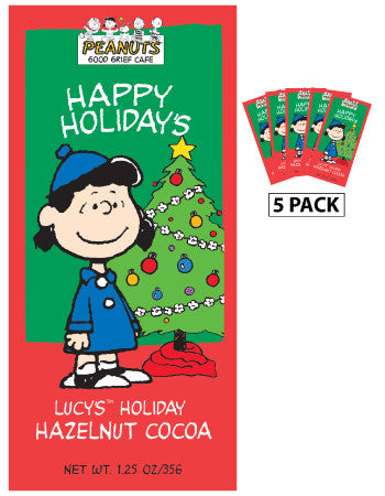 Packets Christmas Cocoa - Peanuts© Lucy Hazelnut - 1.25 oz packets (5) (CLOSEOUT - BEST BY 2021)