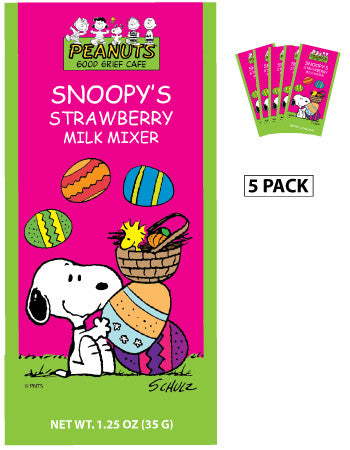Peanuts® Snoopy Easter Strawberry Milk Mixer (Five 1.25oz Packets)