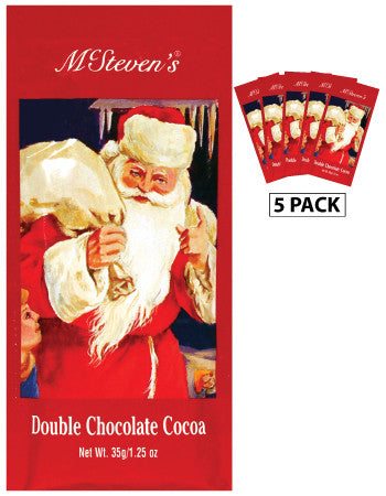 McSteven's Original Christmas Santa Double Chocolate Cocoa (Five 1.25oz Packets)